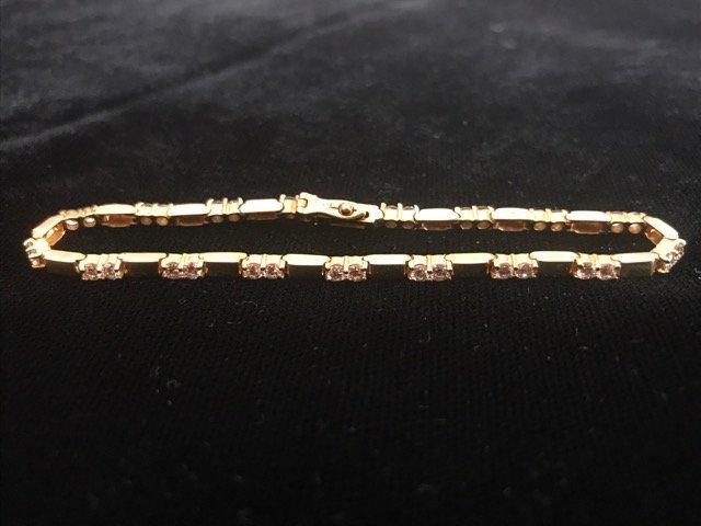 14K Gold Tennis Bracelet 34 Diamonds - 2