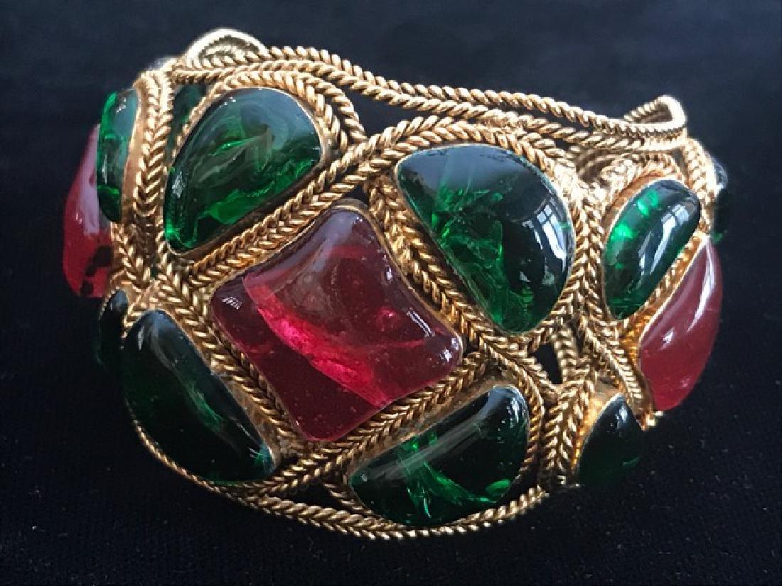 Vintage Chanel Gripoix Cuff Bracelet - 10