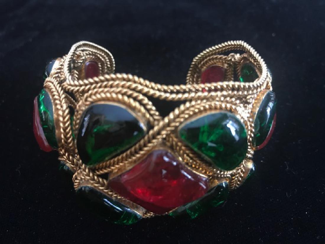 Vintage Chanel Gripoix Cuff Bracelet