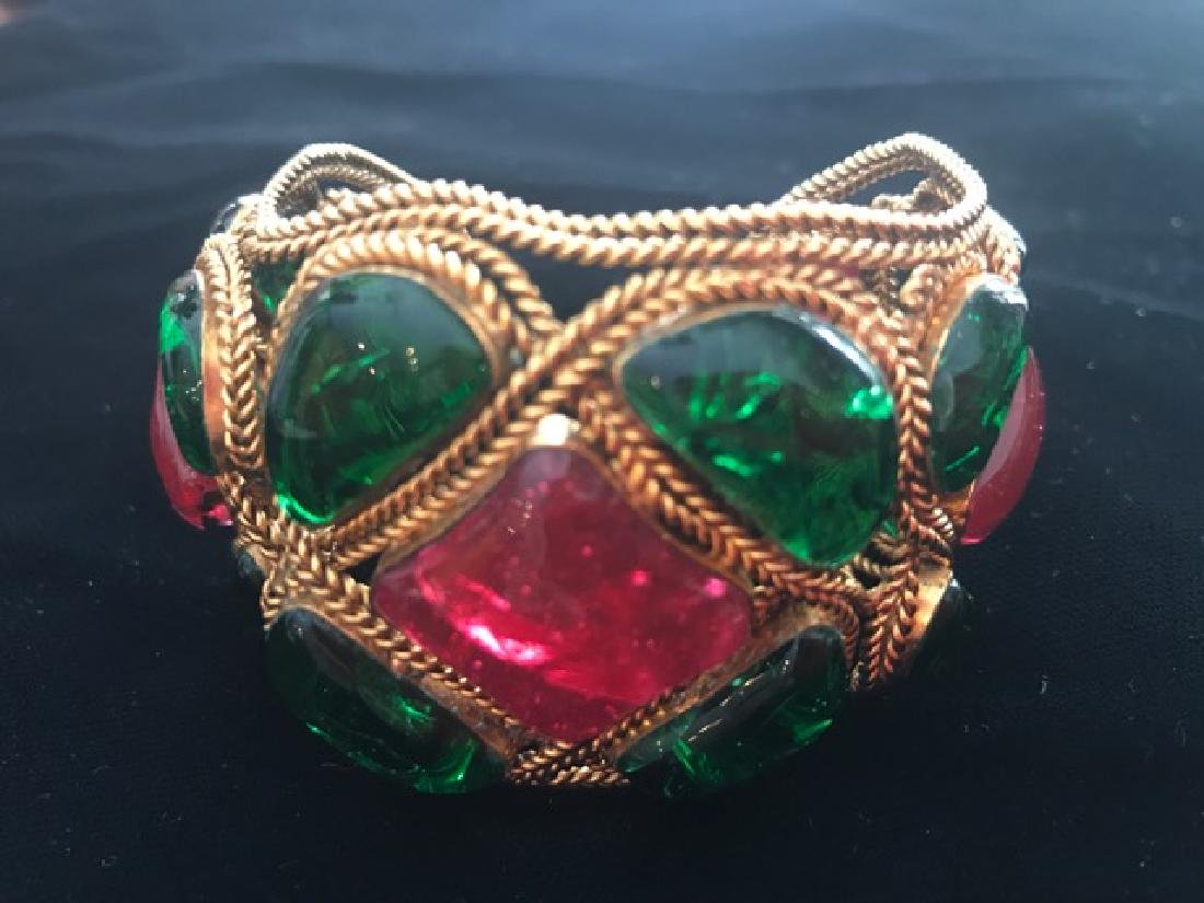 Vintage Chanel Gripoix Cuff Bracelet - 2