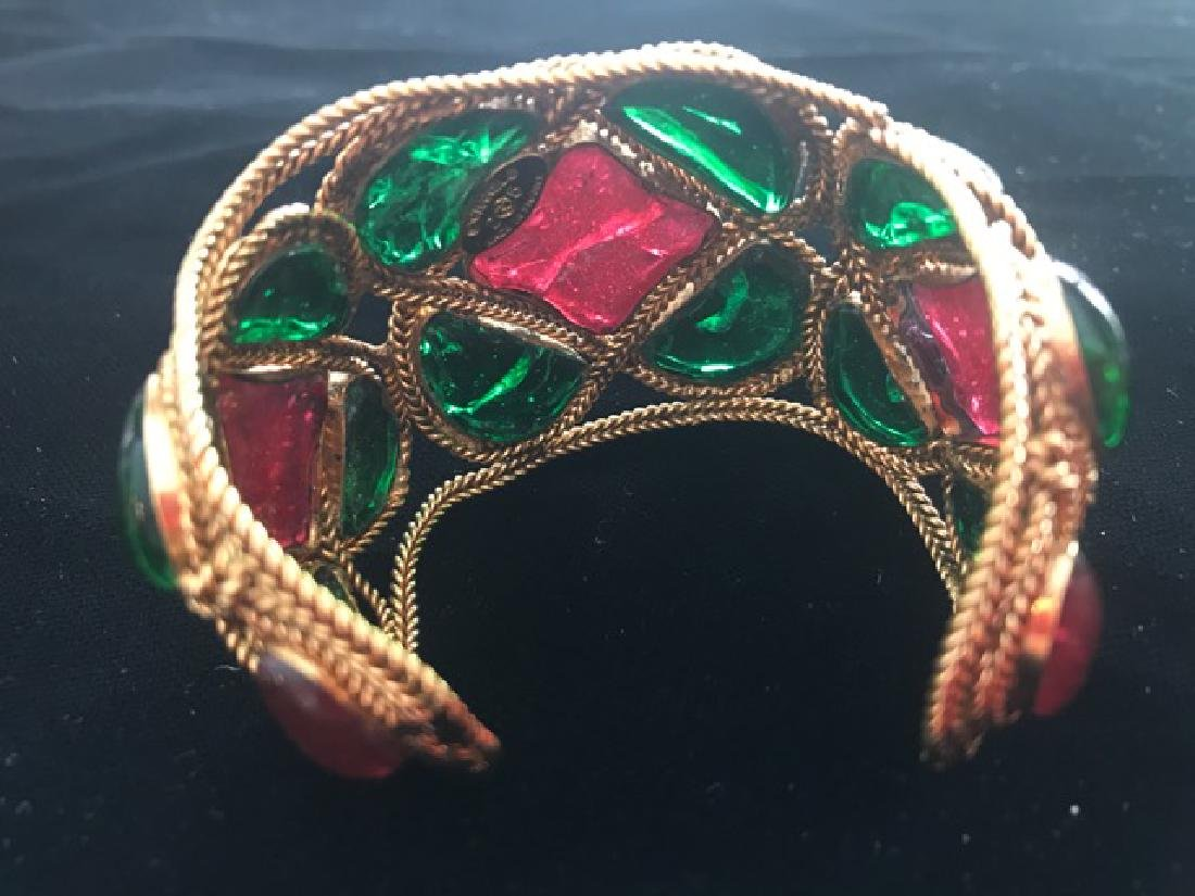 Vintage Chanel Gripoix Cuff Bracelet - 3