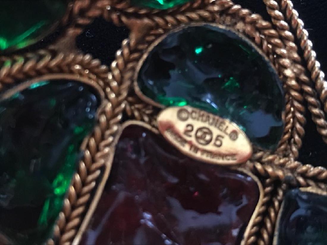 Vintage Chanel Gripoix Cuff Bracelet - 4