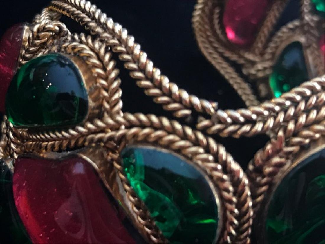 Vintage Chanel Gripoix Cuff Bracelet - 5