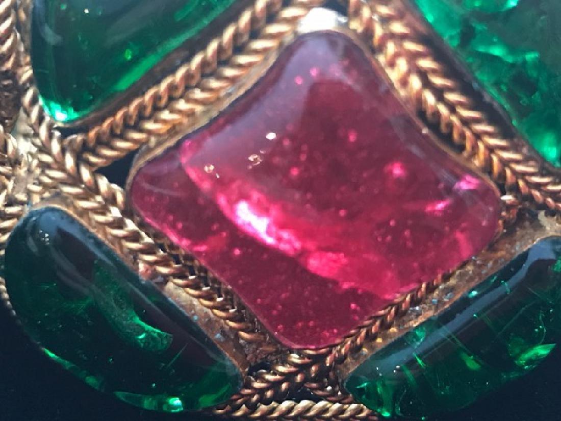 Vintage Chanel Gripoix Cuff Bracelet - 6