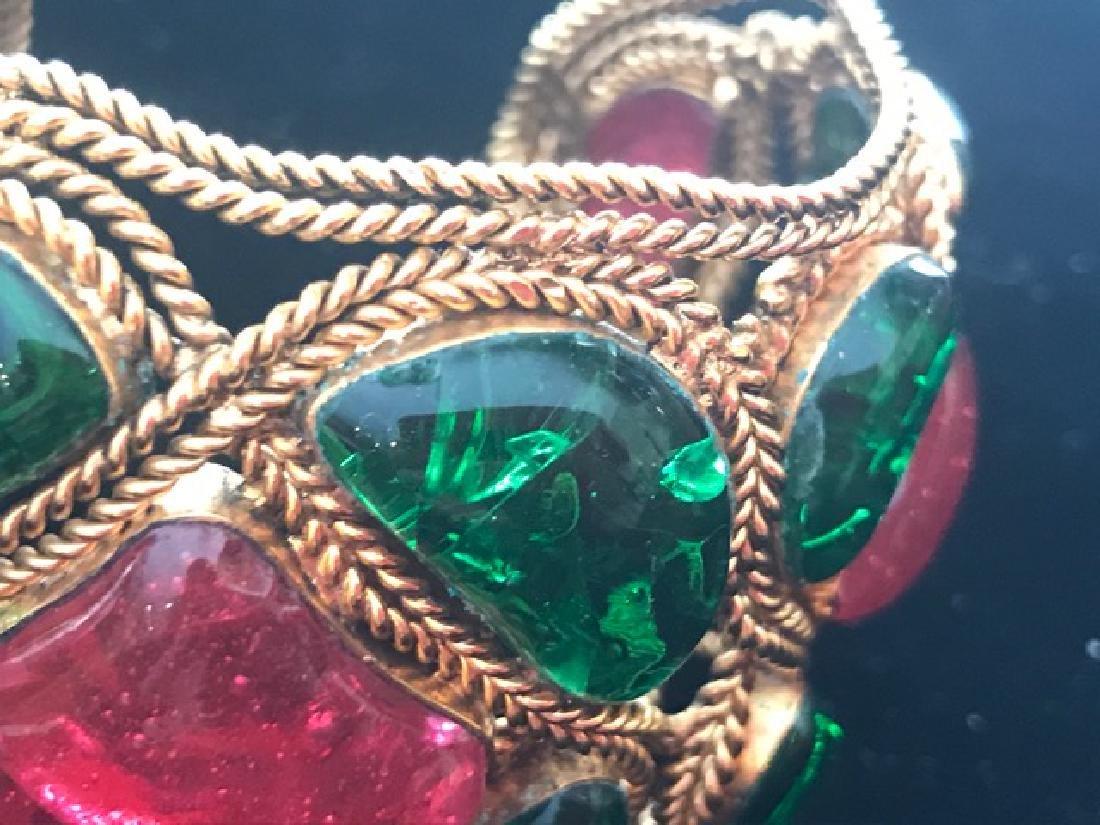 Vintage Chanel Gripoix Cuff Bracelet - 7