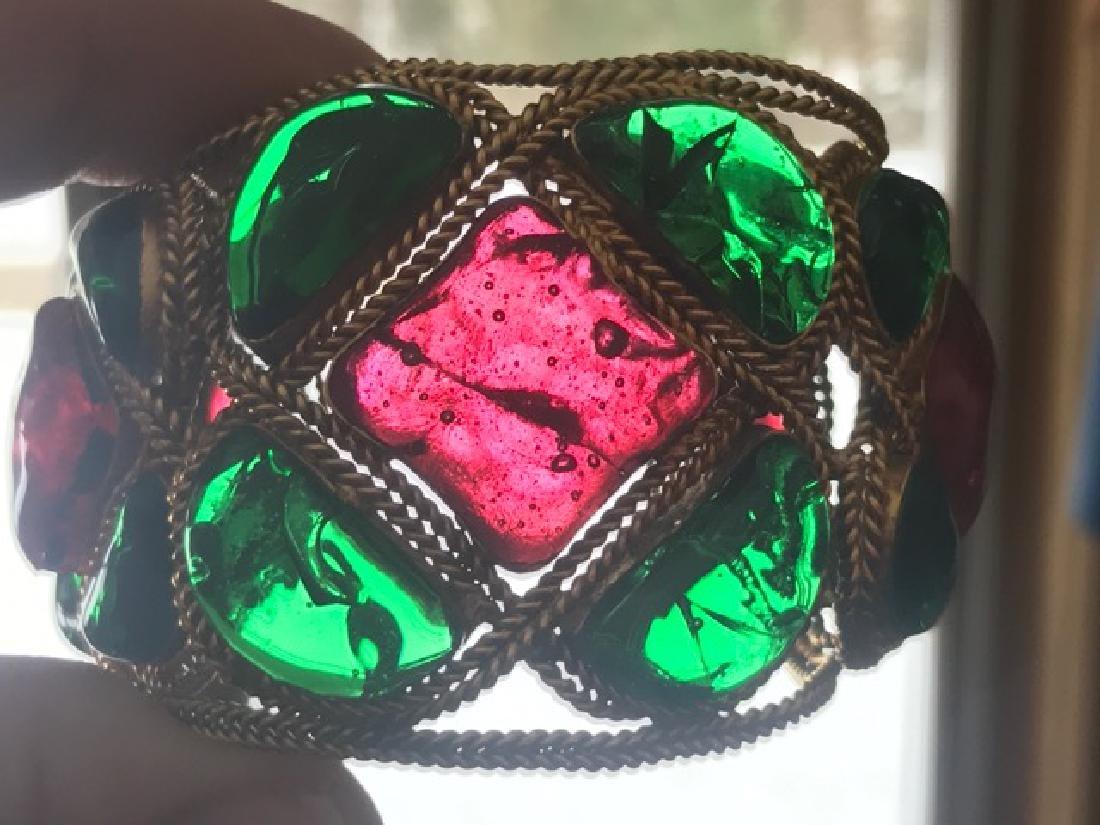Vintage Chanel Gripoix Cuff Bracelet - 8