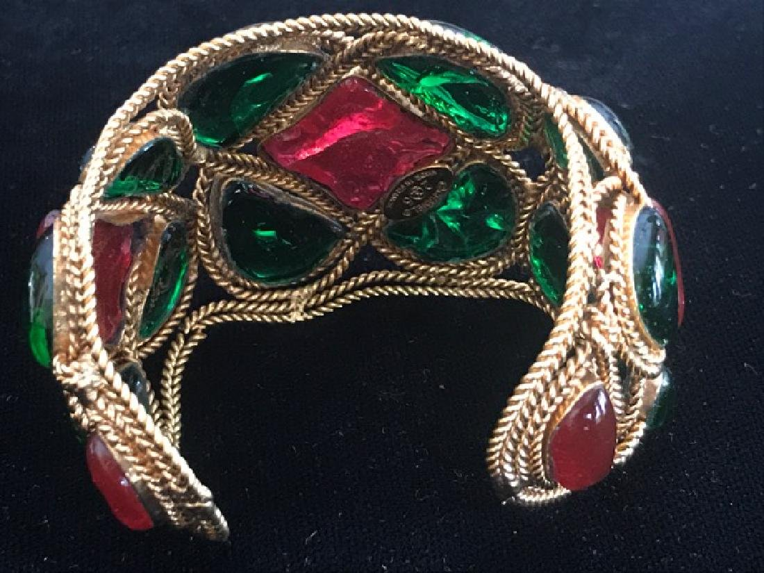 Vintage Chanel Gripoix Cuff Bracelet - 9