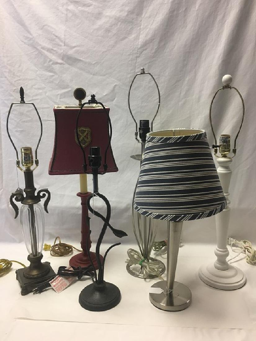 Lot of 6 Table Lamps