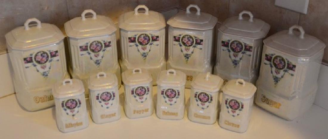 German Mepoco Ware Canister Set (12)