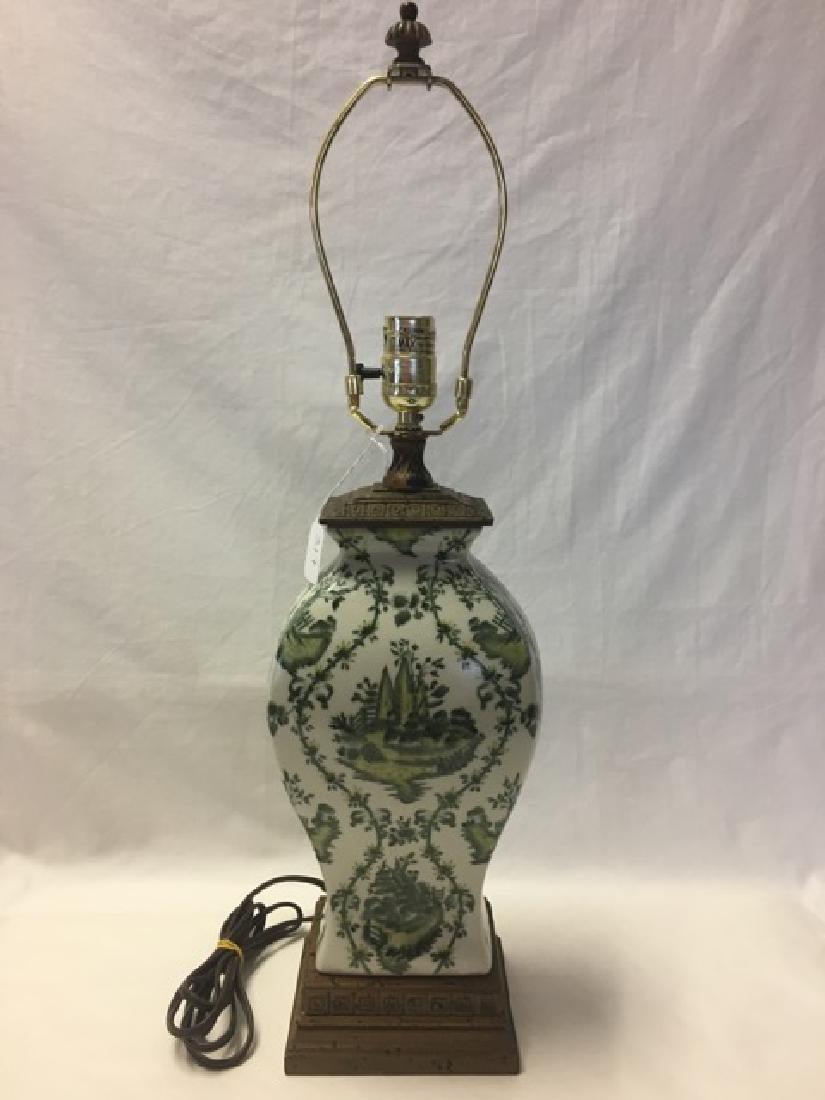 Handpainted Oriental Ceramic Lamp