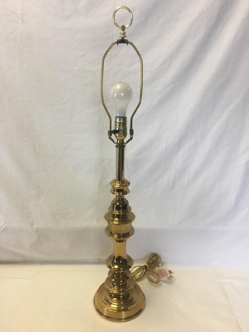 Brass Plated Candlestick Lamp