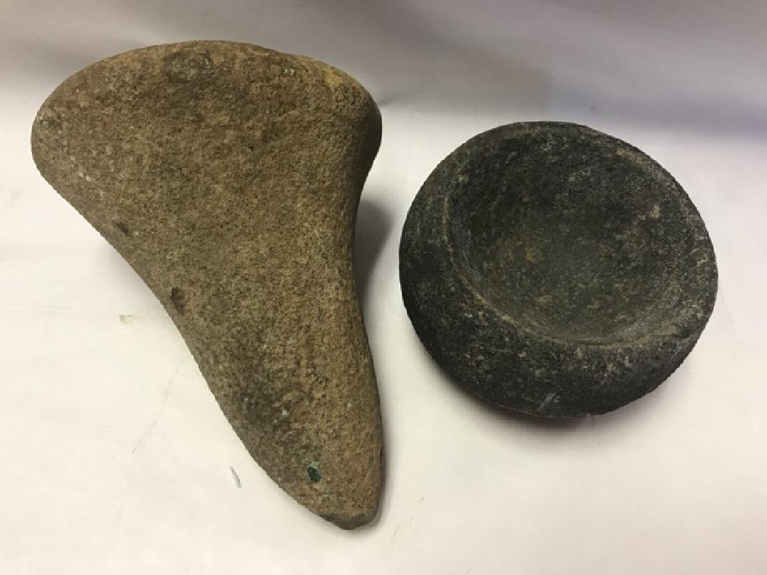 Two Archaic Hand Forged Stone Tools - 2