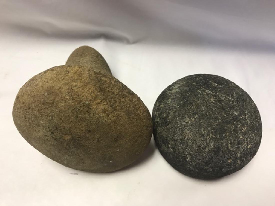 Two Archaic Hand Forged Stone Tools - 3