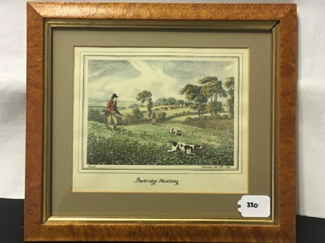 Hunting Print - Partridge Shooting by Howitt