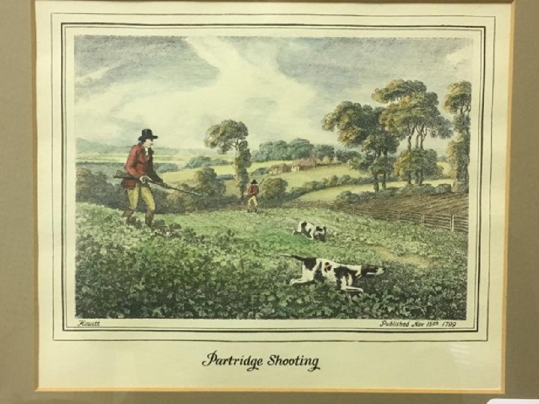 Hunting Print - Partridge Shooting by Howitt - 2