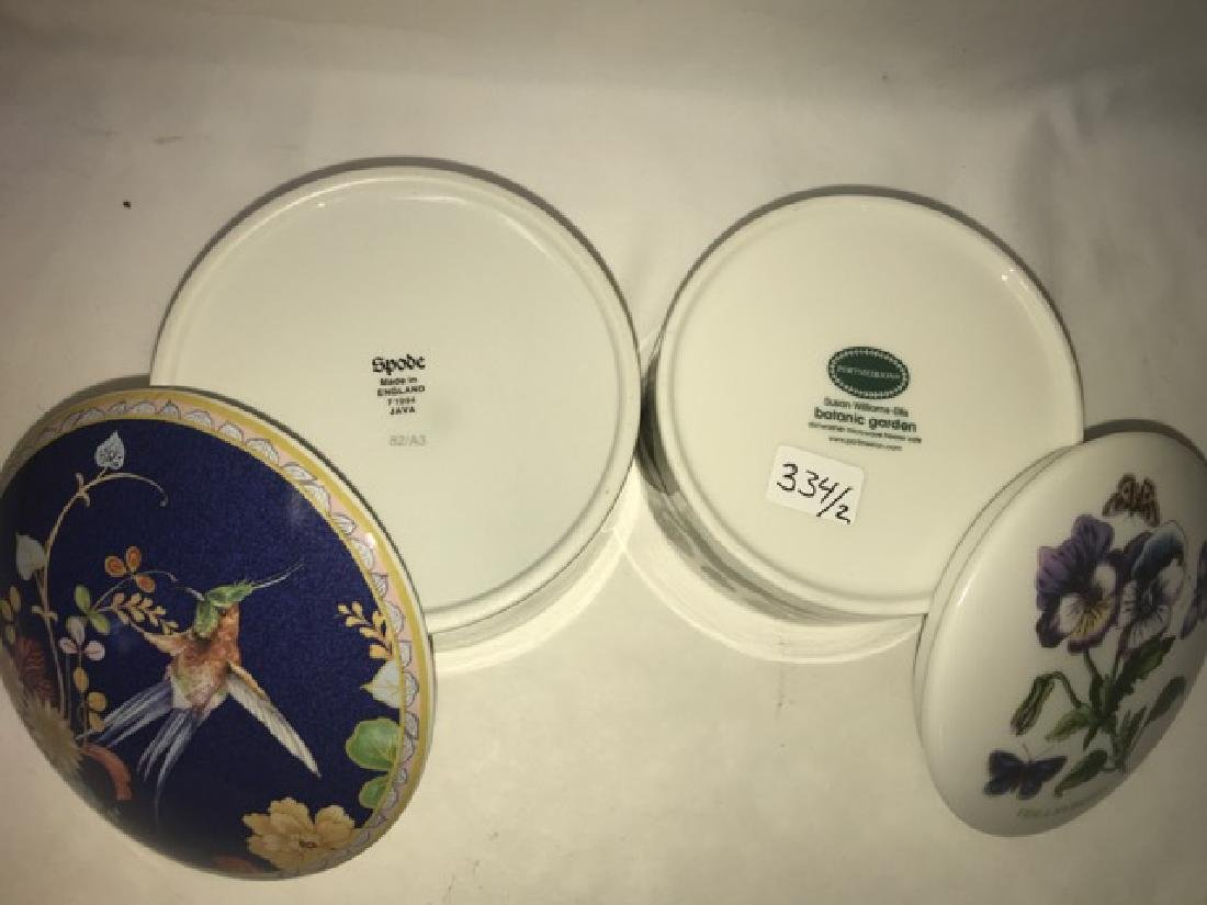 Portmerion and Spode Covered Boxes - 4