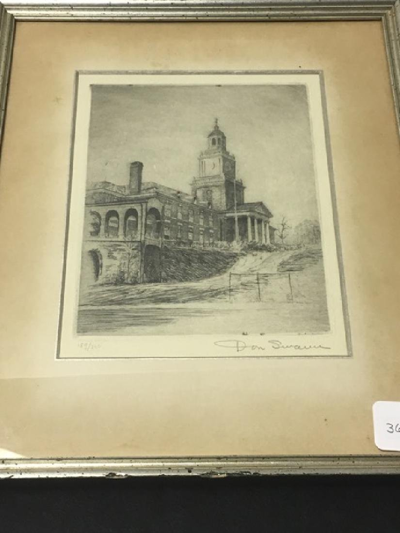 Collegiate Etching by Don Swann