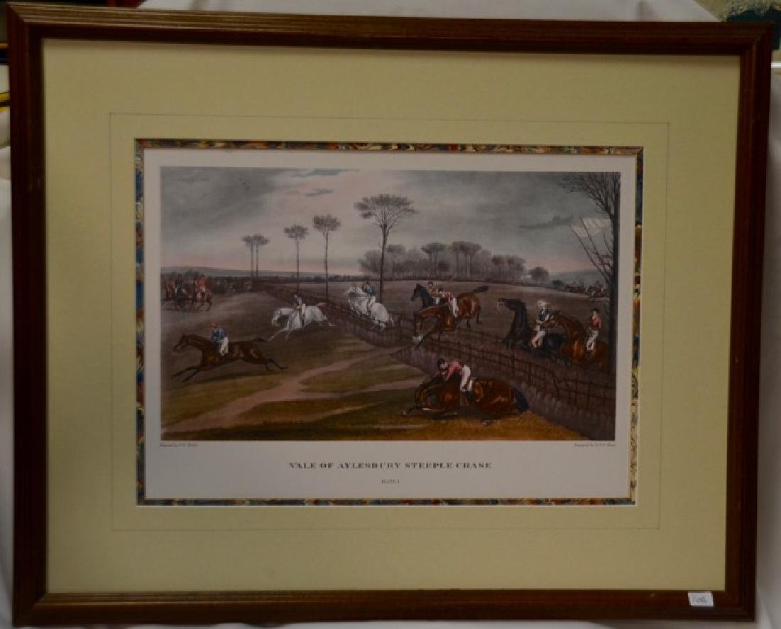 "Colored engraving, ""Vale of Aylesbury Steeple Chase"""