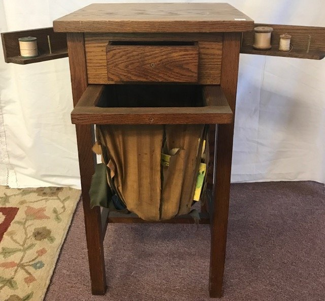 Diminutive Oak Sewing/Knitting Notions Table