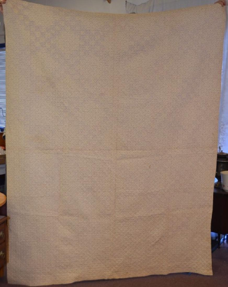 Salmon and Cream Colored Quilt - 3