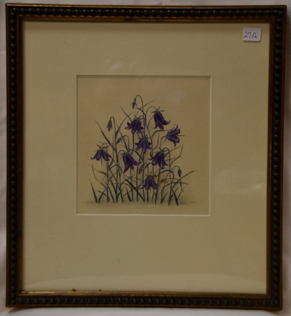 "Watercolor, ""Bluebells"""