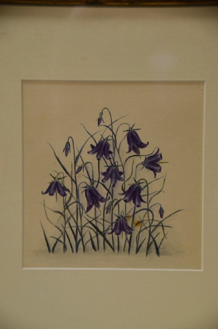 "Watercolor, ""Bluebells"" - 2"