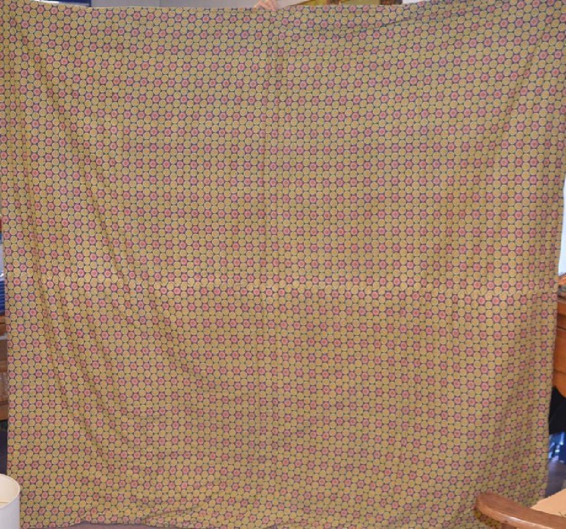 Yarn Tied Blue Quilt - 4