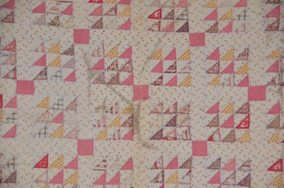 Pink and Yellow Quilt - 3