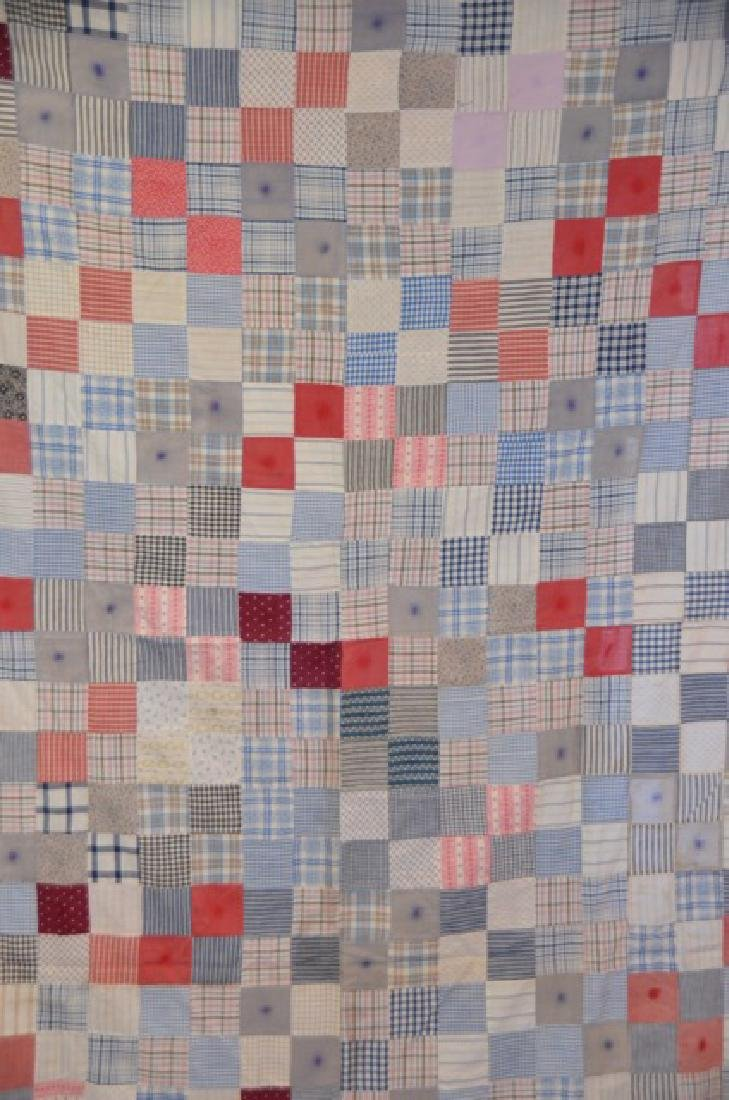 Antique Pink and Multi Colored Quilt Topper - 2