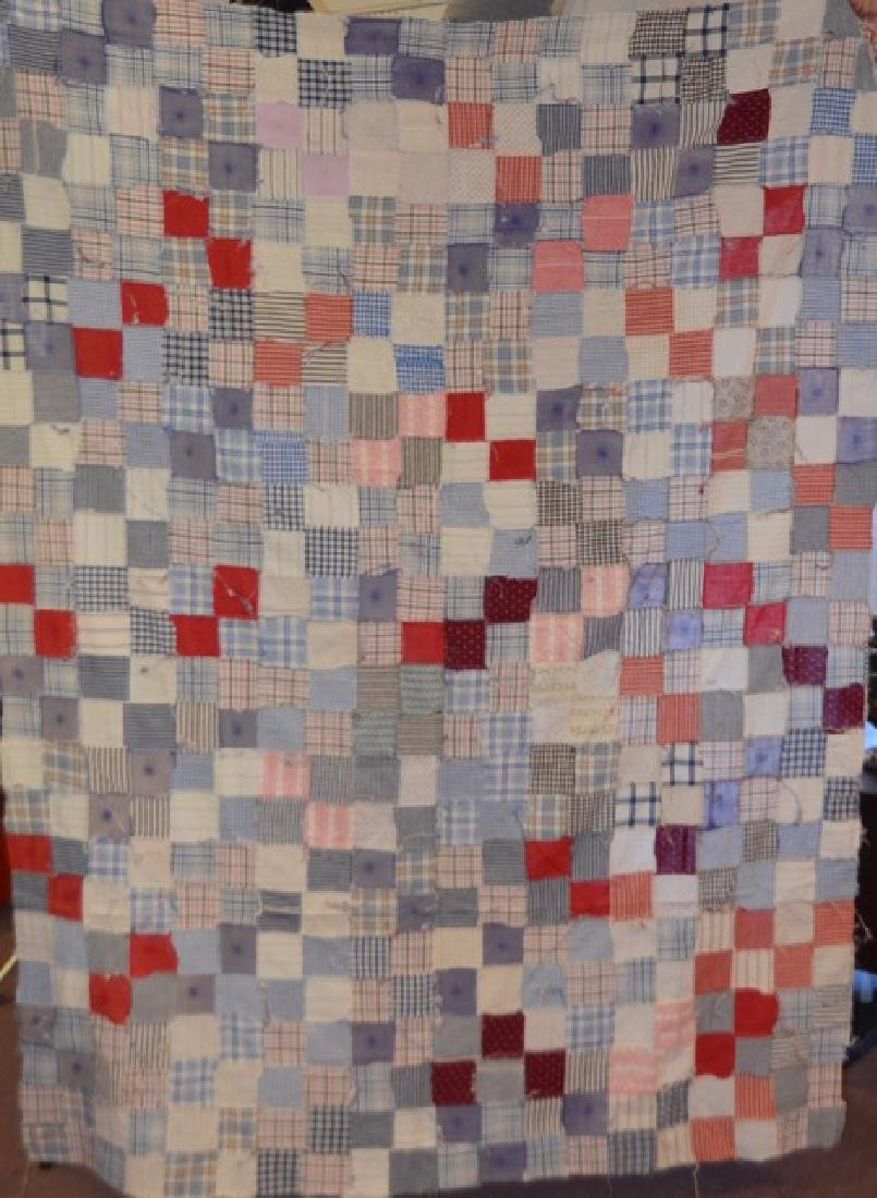 Antique Pink and Multi Colored Quilt Topper - 3