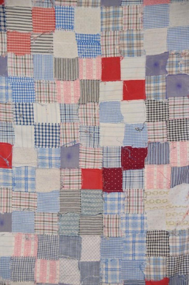 Antique Pink and Multi Colored Quilt Topper - 4