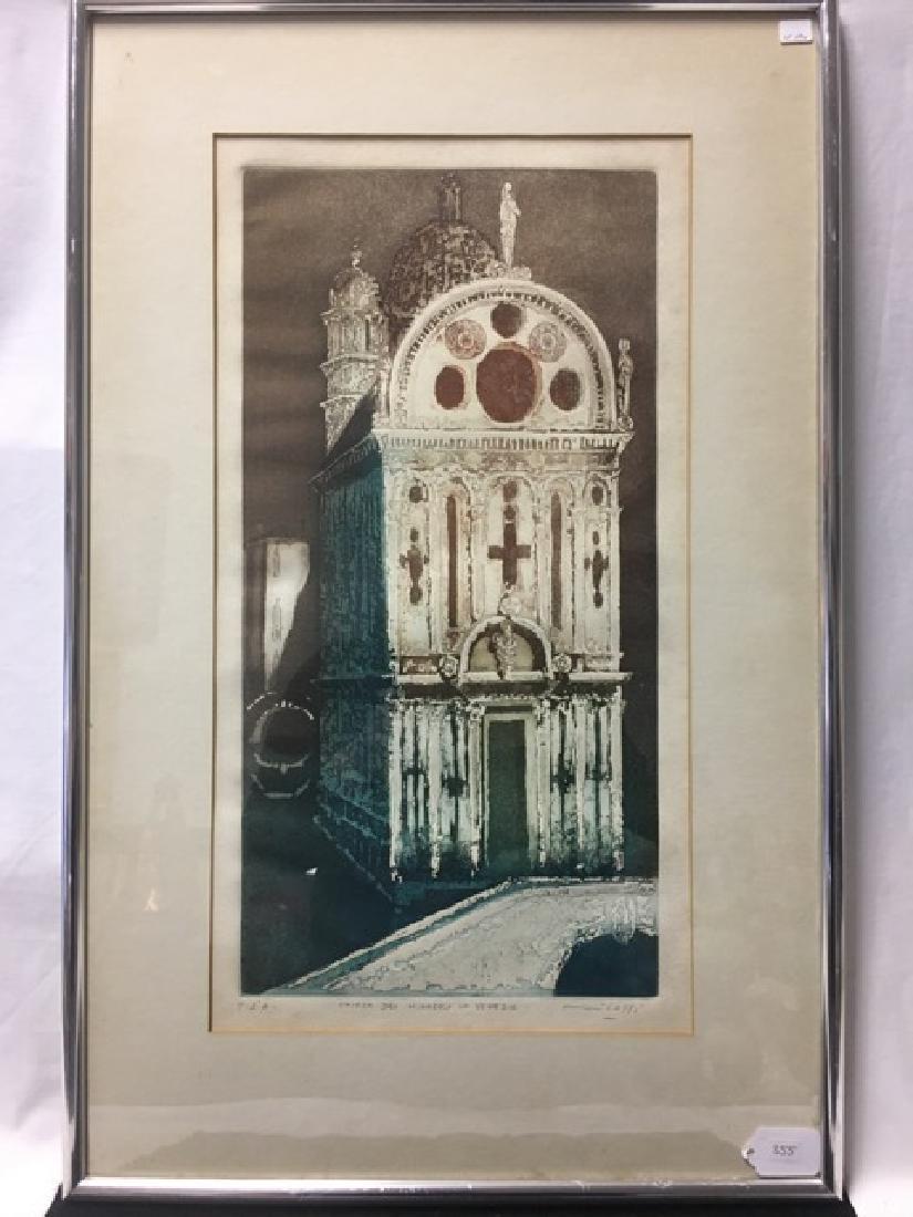 """Artist's Proof, """"Chiesa Dei Mairacoli in Venecia"""""""