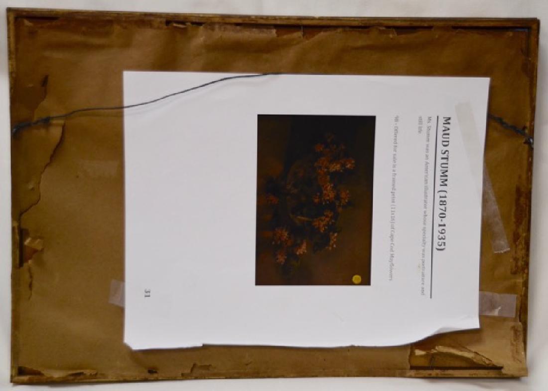 "Print, ""Cape Cod Mayflowers"" Sgd.  Stumm, M - 2"