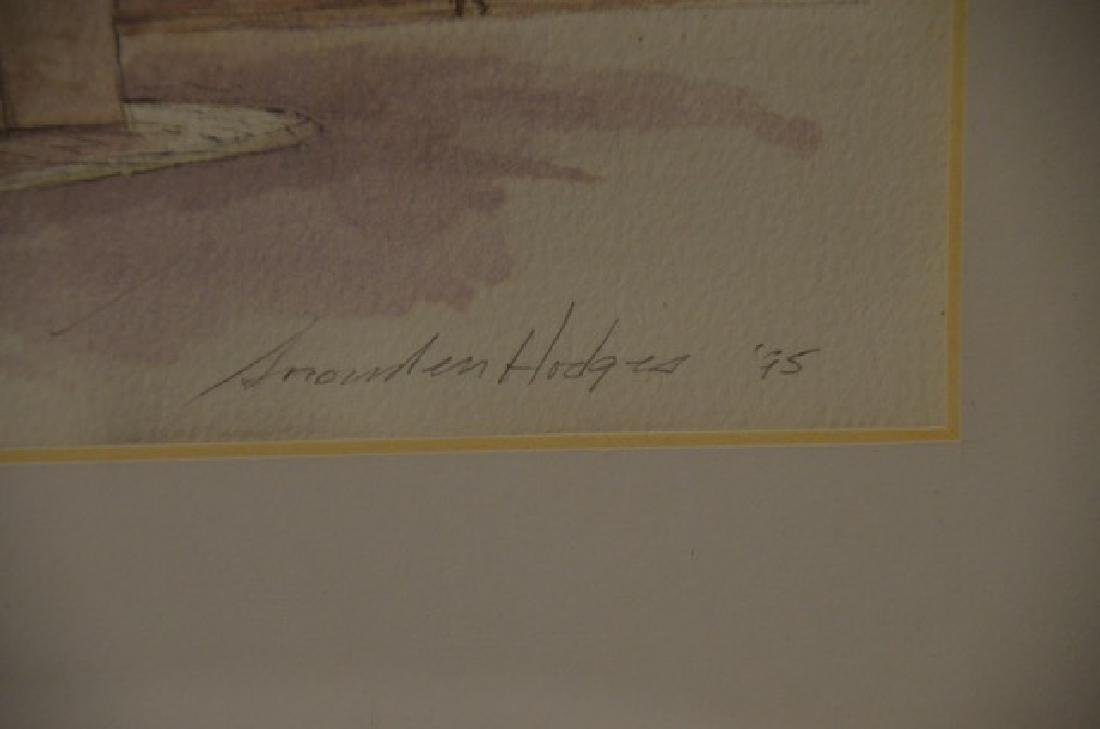 """Pen & Ink Wash, """"Portia S. Frediano"""" Sgd.  Hodges, S. - 3"""