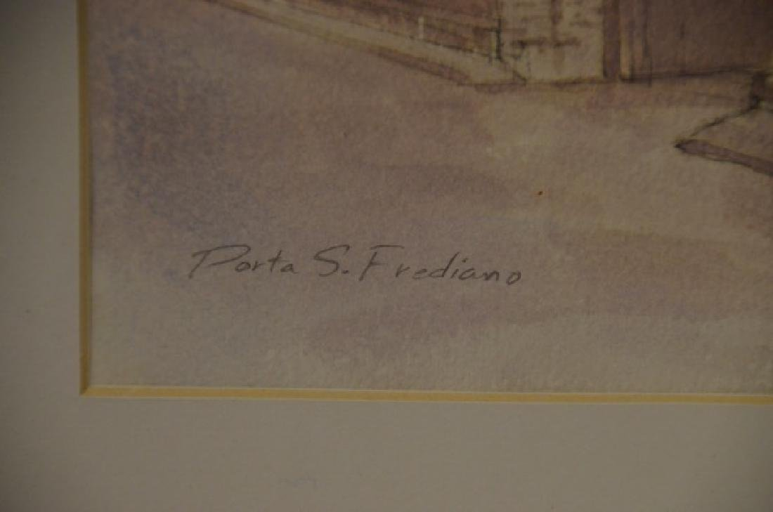 """Pen & Ink Wash, """"Portia S. Frediano"""" Sgd.  Hodges, S. - 4"""