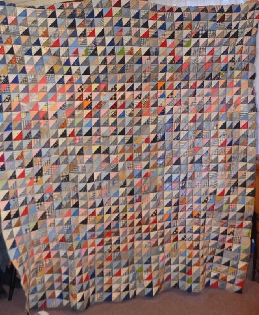 Antique Multi-Colored Quilt Topper