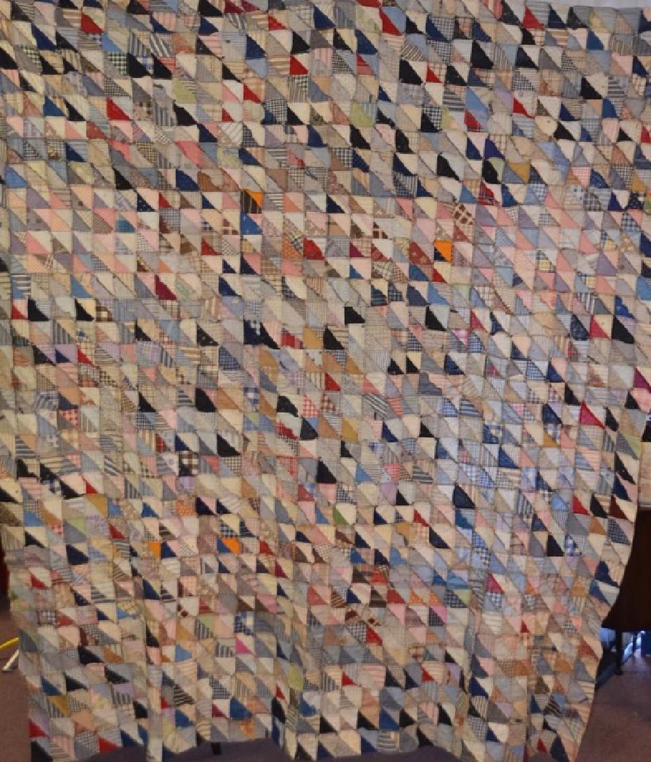 Antique Multi-Colored Quilt Topper - 3