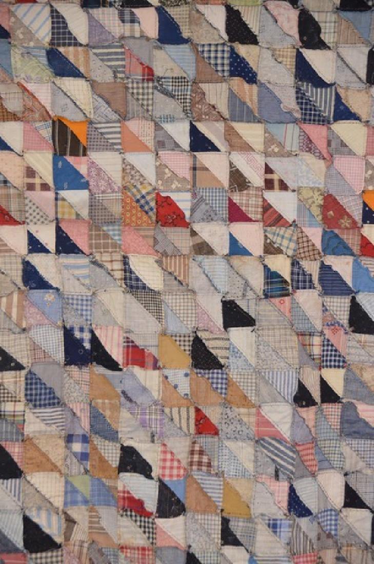 Antique Multi-Colored Quilt Topper - 4