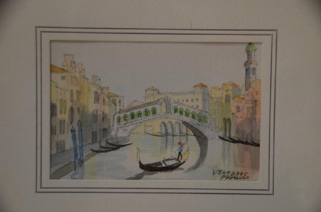 "Watercolor, ""Venice"" Sgd.  Venezia - 2"
