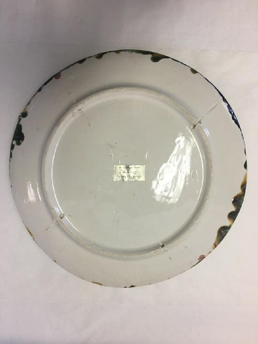 Vintage Majolica Palissy Ware Crab Plate - 2