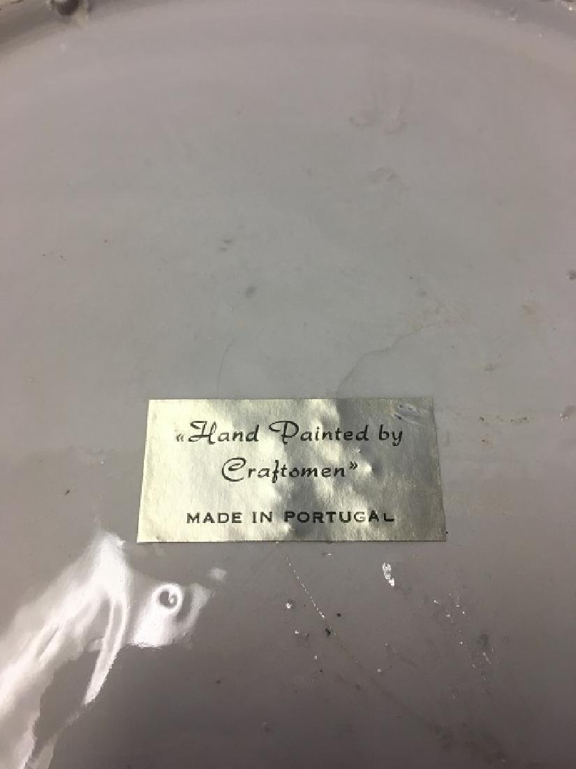 Vintage Majolica Palissy Ware Crab Plate - 3