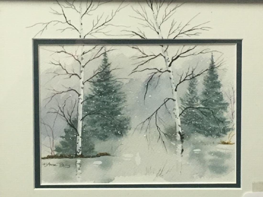 Watercolor - Snowy Forest Sgd. Anne Tracey - 2