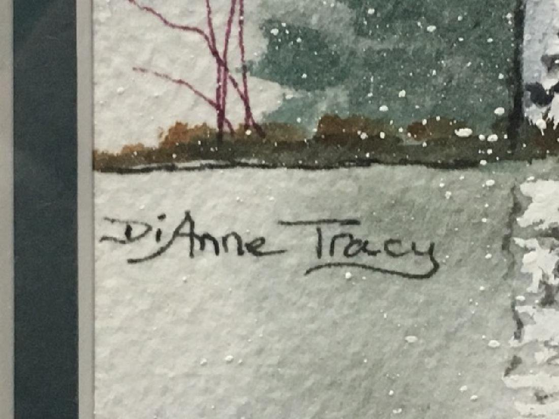 Watercolor - Snowy Forest Sgd. Anne Tracey - 3