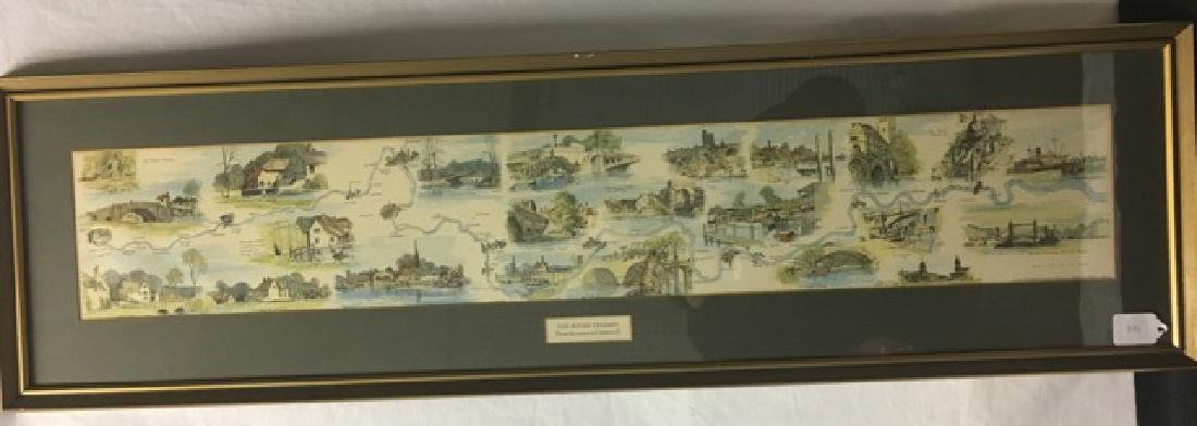 River Thames Lithograph by Montague Webb