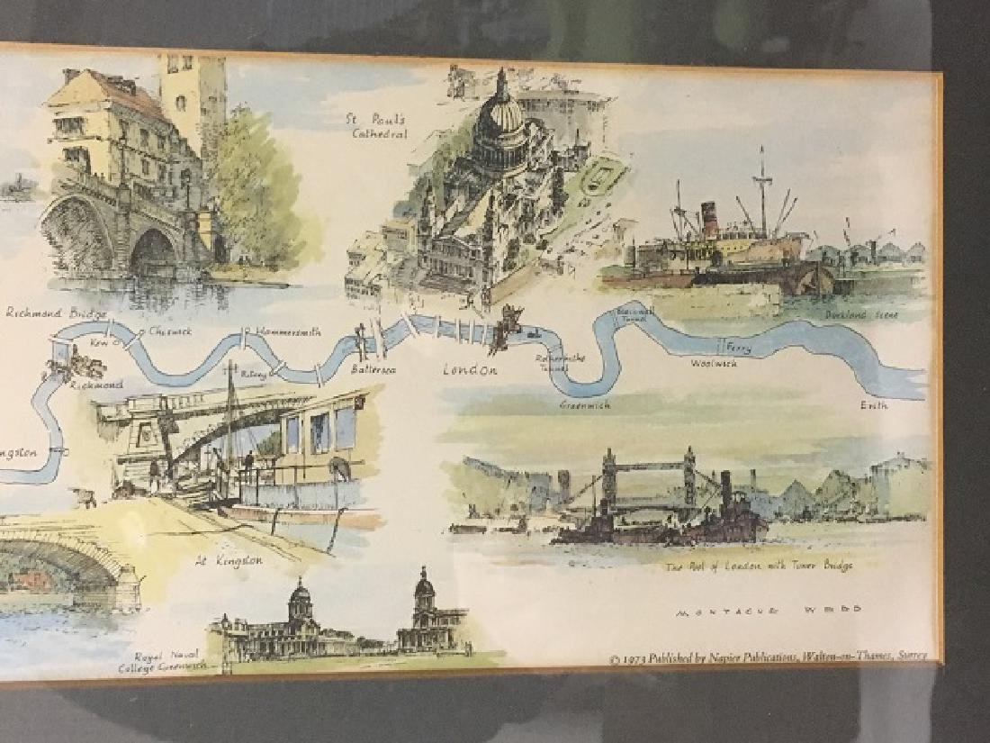 River Thames Lithograph by Montague Webb - 7