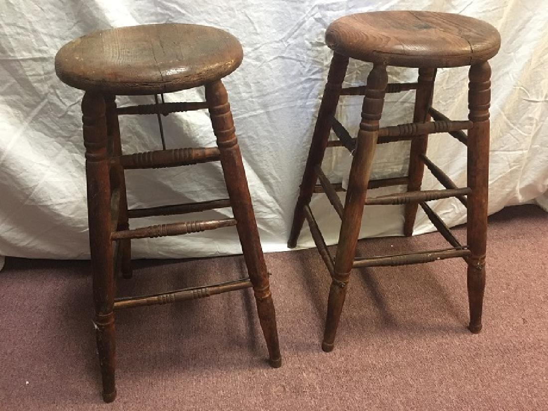 Pair of Vintage Oak stools