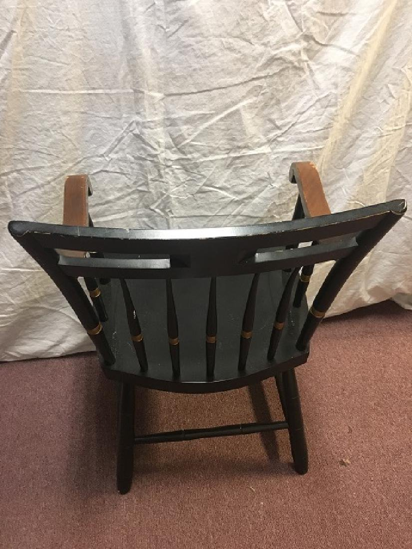Black Painted Collegiate Chair - 3