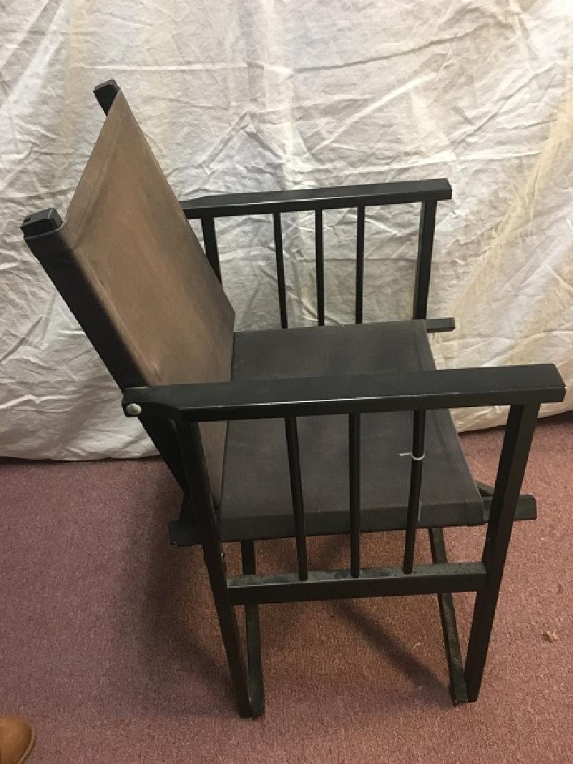 Pair Canvas Folding Arm Chairs - 2