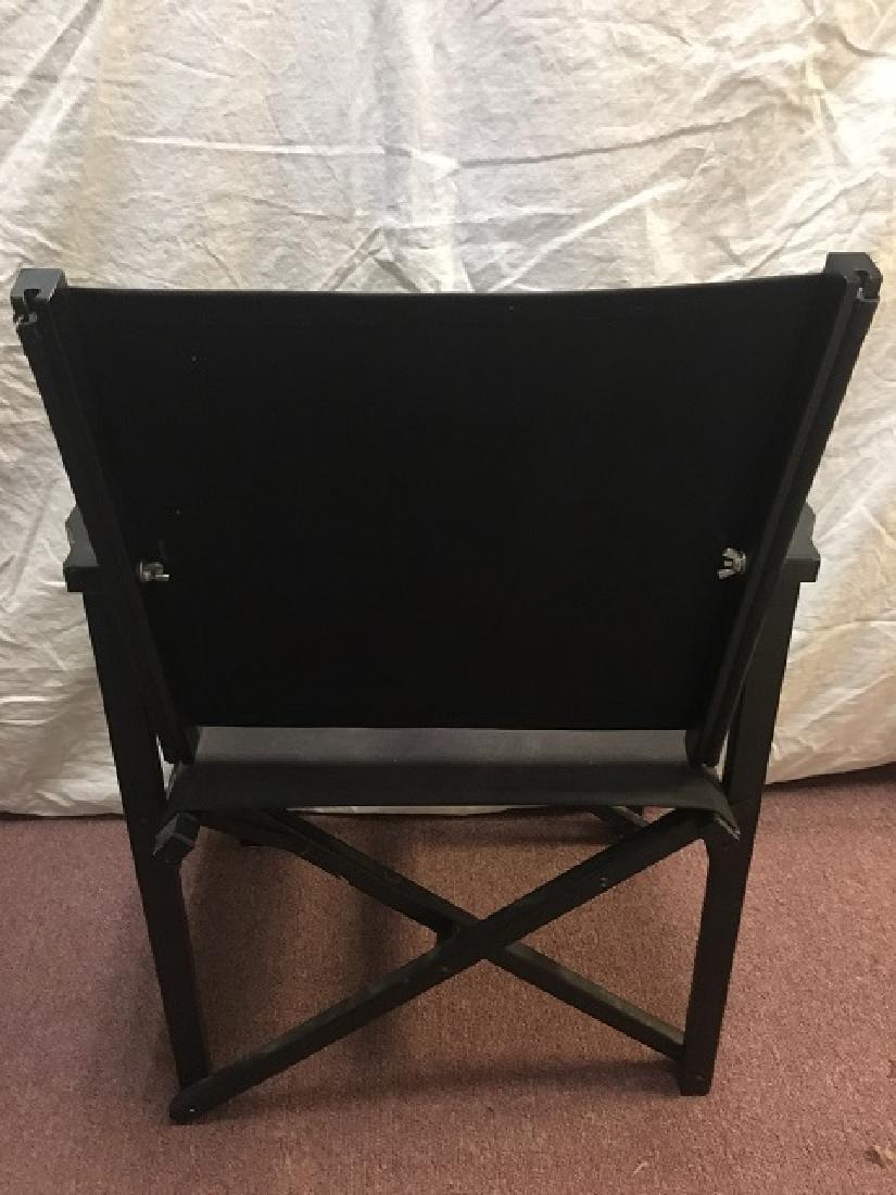 Pair Canvas Folding Arm Chairs - 3