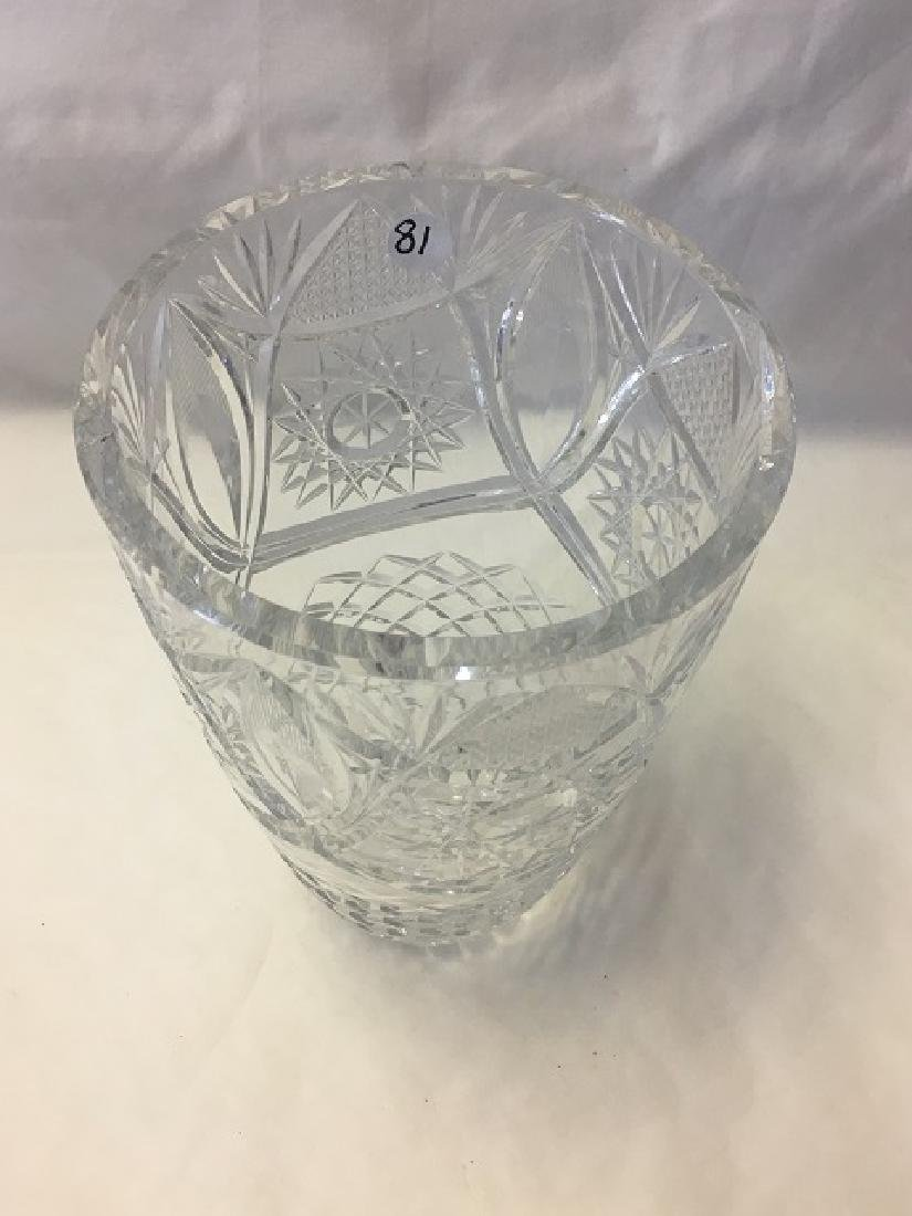 Cut Glass Crystal Vase - 2